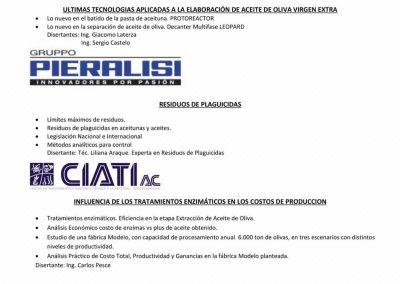 Charlas Técnicas Olivícolas  Argoliva - Septiembre 2018 -1