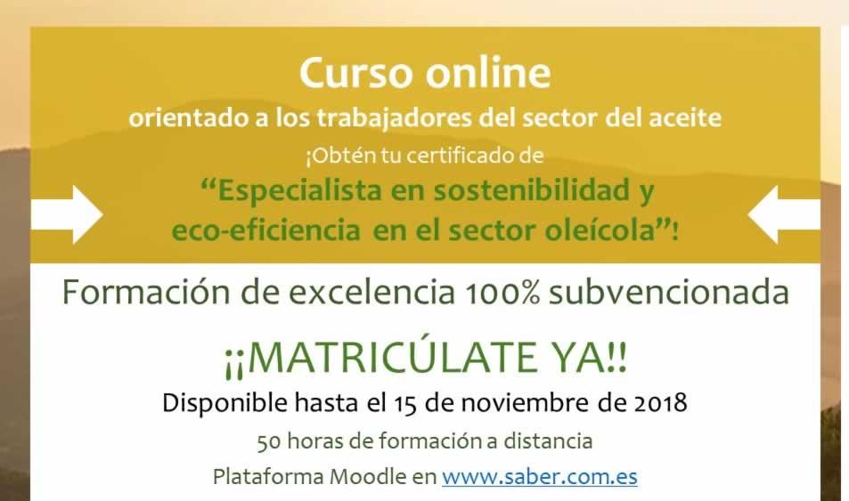 Curso Sobre innovación y sostentibilidad en el sector olivícola