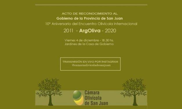 San Juan recibió un reconocimiento por la organización ininterrumpida de ArgOliva